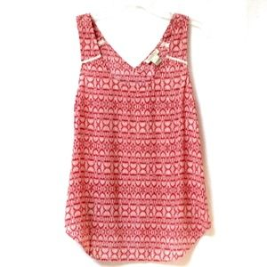 LUCKY BRAND Sleeveless Wrap Style Back Top S